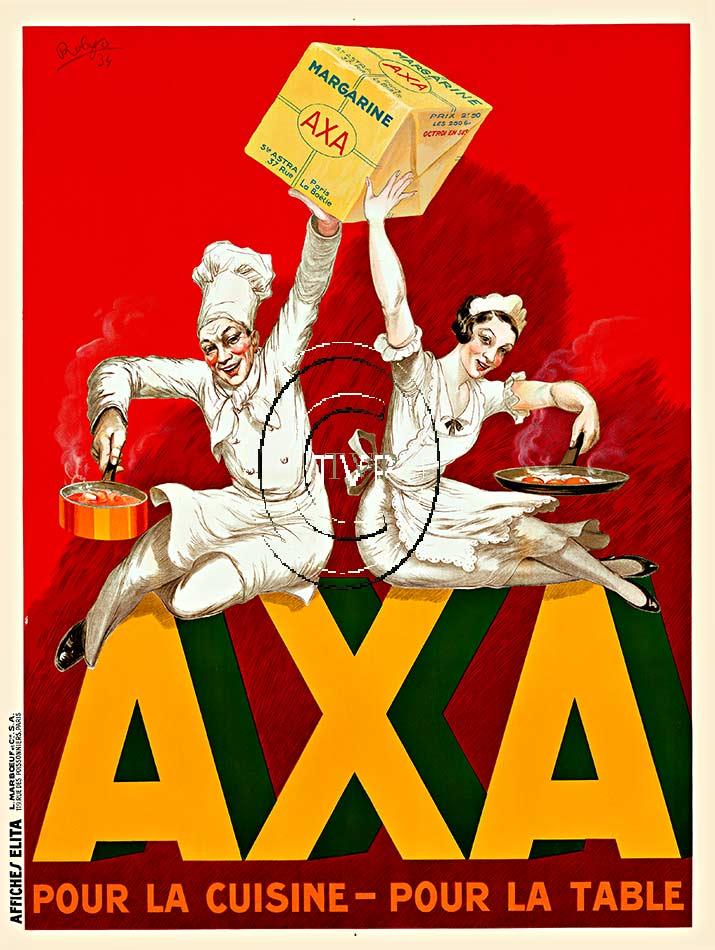 Axa Margarine Robert Wolff Robys Poster Passion