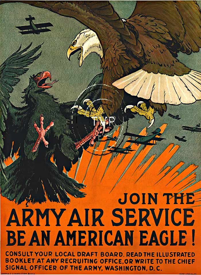 Charles Livingston Bull - Army Air Service Be an American Eagle! border=