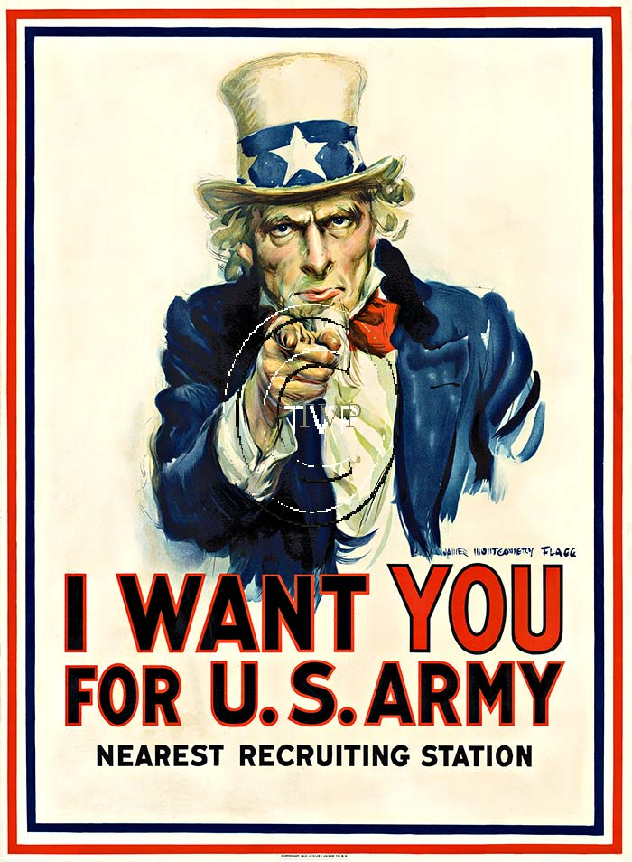 James Montgomery Flagg - I Want You (Uncle Sam) border=