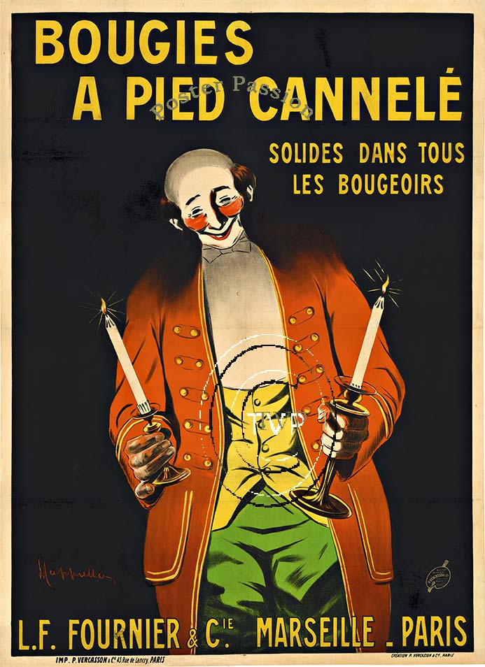Leonetto Cappiello - Bougies A Pied Cannele border=