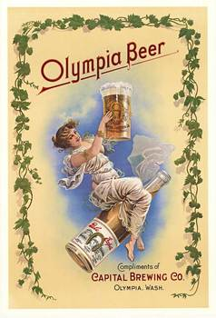 Title: OLYMPIA BEER (Girl on bottle) , Price: $149