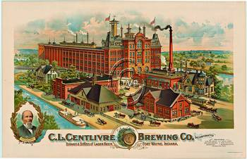 Title: C. L. Centlivre Brewing Co , Date: R-1890's , Size: 24.25 x 37.25 , Price: $249