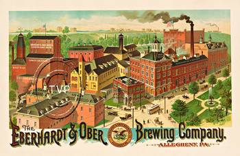 Title: Eberhardt & Ober Brewing Company , Size: 24.25 x 37.25 , Medium: Giclee
