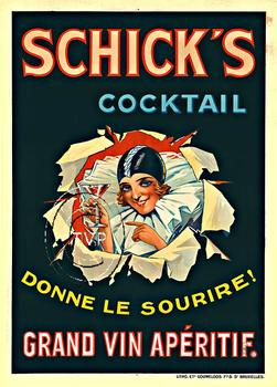 Title: Schick's Cocktail , Date: C-1925 , Size: 28.75 x 40 or 40 x 55.5 , Medium: Giclee , Price: $249