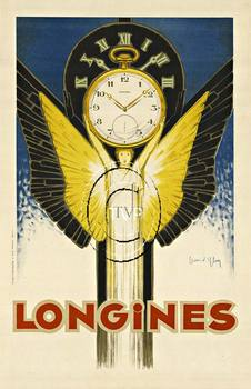 Title: Longines , Date: R 1930 , Size: 25.75 x 40 , Medium: Archival Ink Print