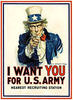Title: I Want You (Uncle Sam) , Date: R. 1917 , Size: 30 x 40.5 , Medium: Giclee , Price: $289