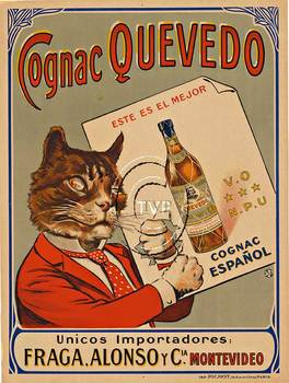 Title: Cognac Quevedo (Cat) , Size: 23.25 x 30.75 , Medium: Archival Ink Print
