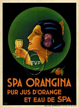 Title: Spa Orangina , Size: 29.5 x 40 & 40 x 54.25 , Medium: Archival Ink Print