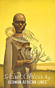Title: To East Africa by German African Lines , Size: 25