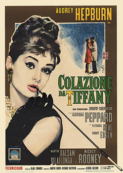 Title: Breakfast at Tiffany's (Italian) , Size: 27.75 x 39 - 39 x 55