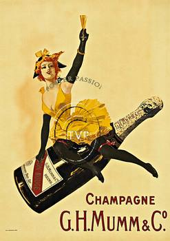 Title: G. H. Mumm & Co. Champagne , Size: 34 x 48.25 , Medium: Giclee