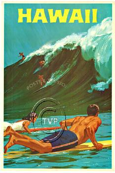 Title: HAWAII (Surfers) , Size: 26 x 39